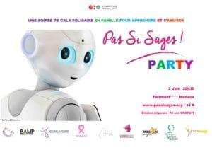 """Flyer de l'événement """"Pas si sages party !"""" à Monaco."""
